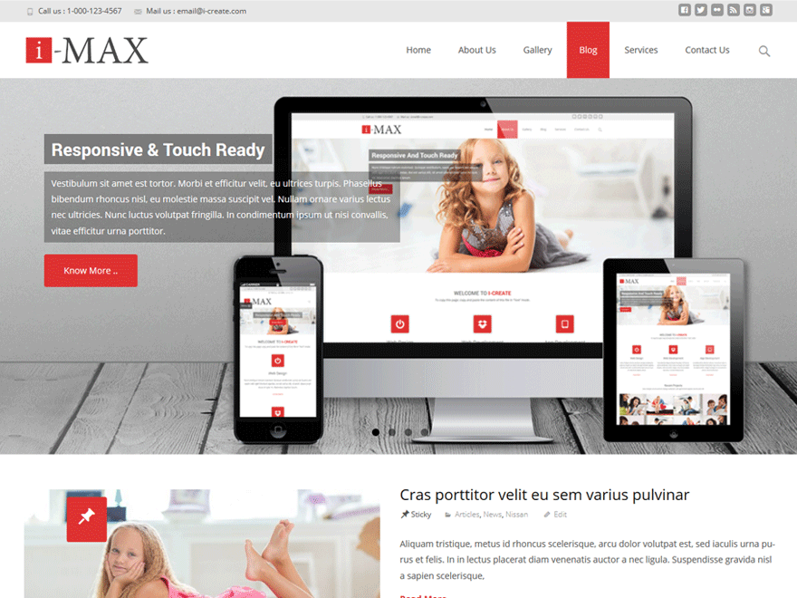 i-max free wordpress theme