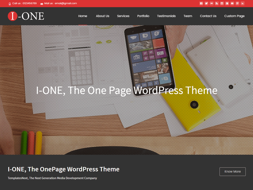 i-one Theme Free Download