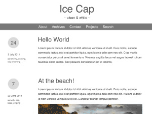 Ice Cap free wordpress theme
