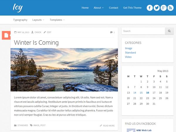 Icy free wordpress theme