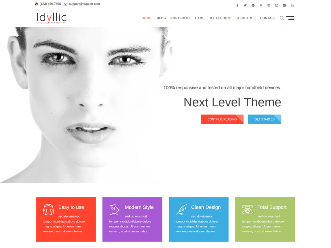 Idyllic wordpress idyllic is the next generation and ultra responsive multipurpose corporated fully optimized for agency business corporate cv personal portfolio yelopaper Gallery