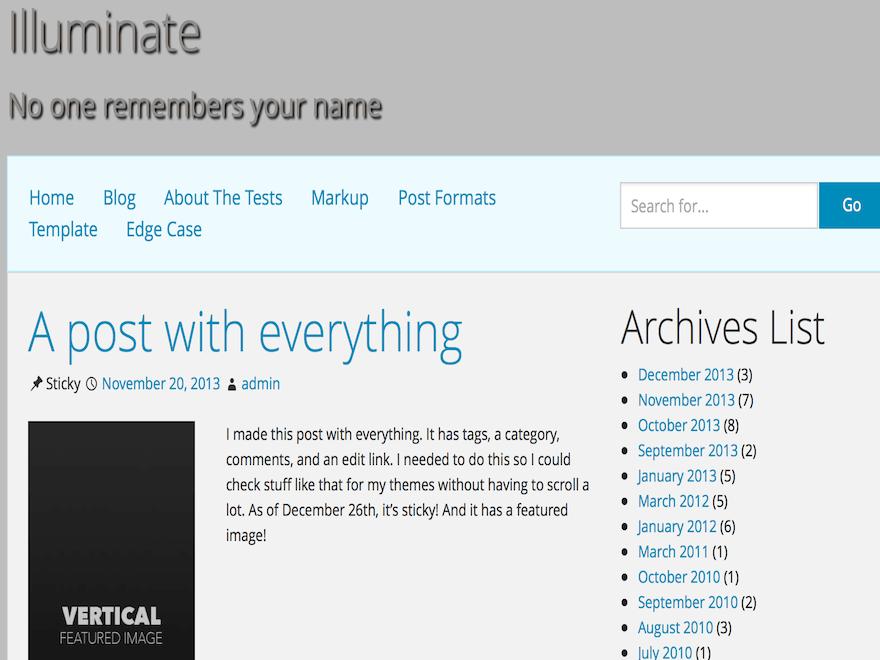 Illuminate theme wordpress gratuit