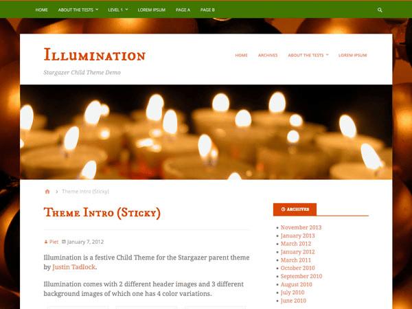 Illumination free wordpress theme