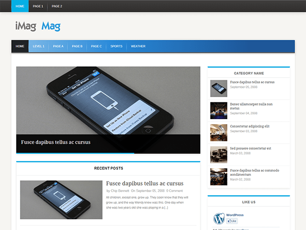 iMag Mag free wordpress theme