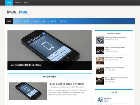 iMag Mag wordpress theme