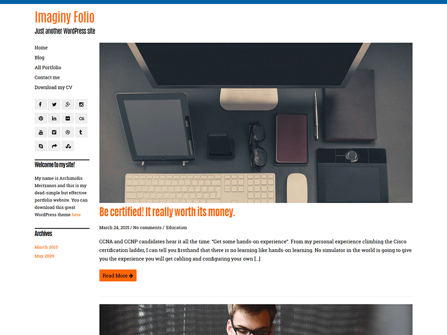 Imaginy free wordpress theme