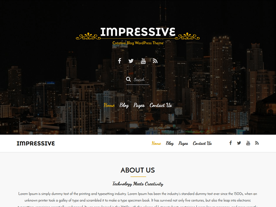 Impressive wordpress theme