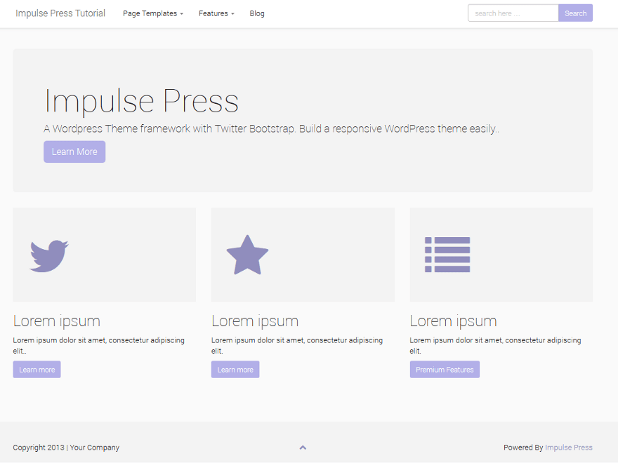 Impulse Press free wordpress theme