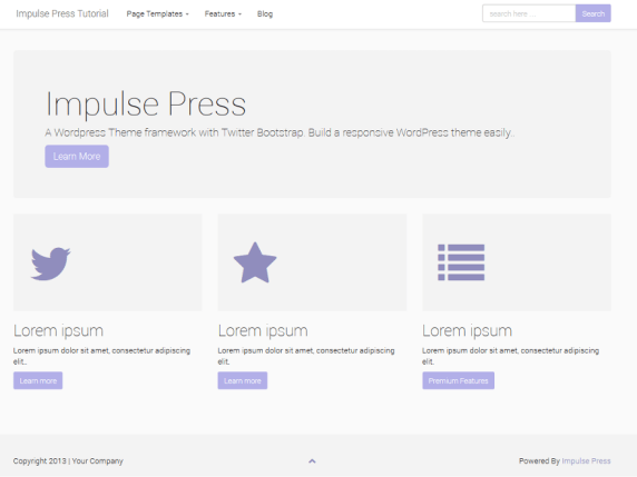 Impulse Press wordpress theme