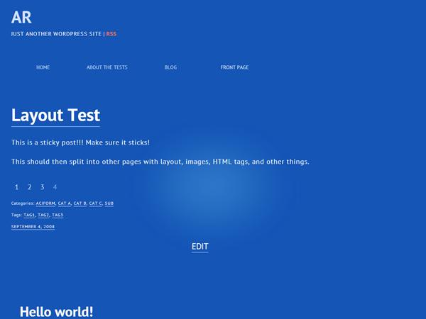 inBlu free wordpress theme