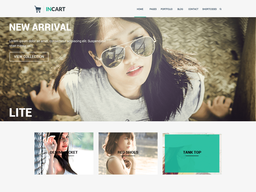 Incart Lite free wordpress theme