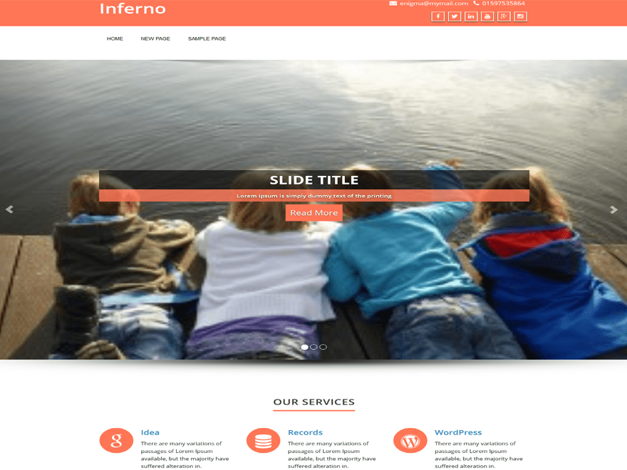 Inferno free wordpress theme
