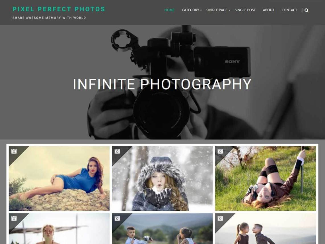 Infinite Photography Theme Free Download