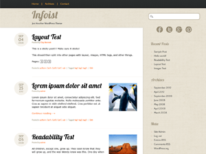 Infoist free wordpress theme