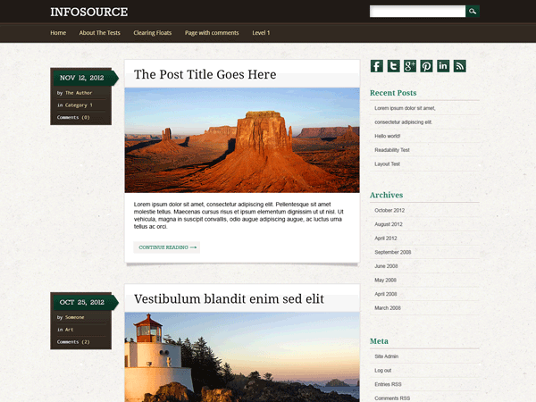 Infosource free wordpress theme