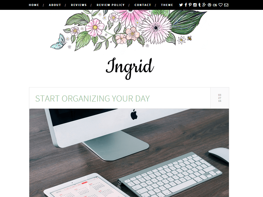 Ingrid free wordpress theme