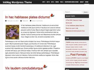 InkMag free wordpress theme