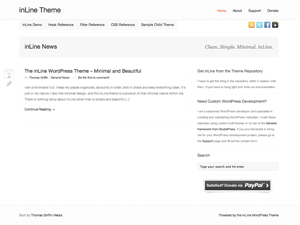 inLine free wordpress theme