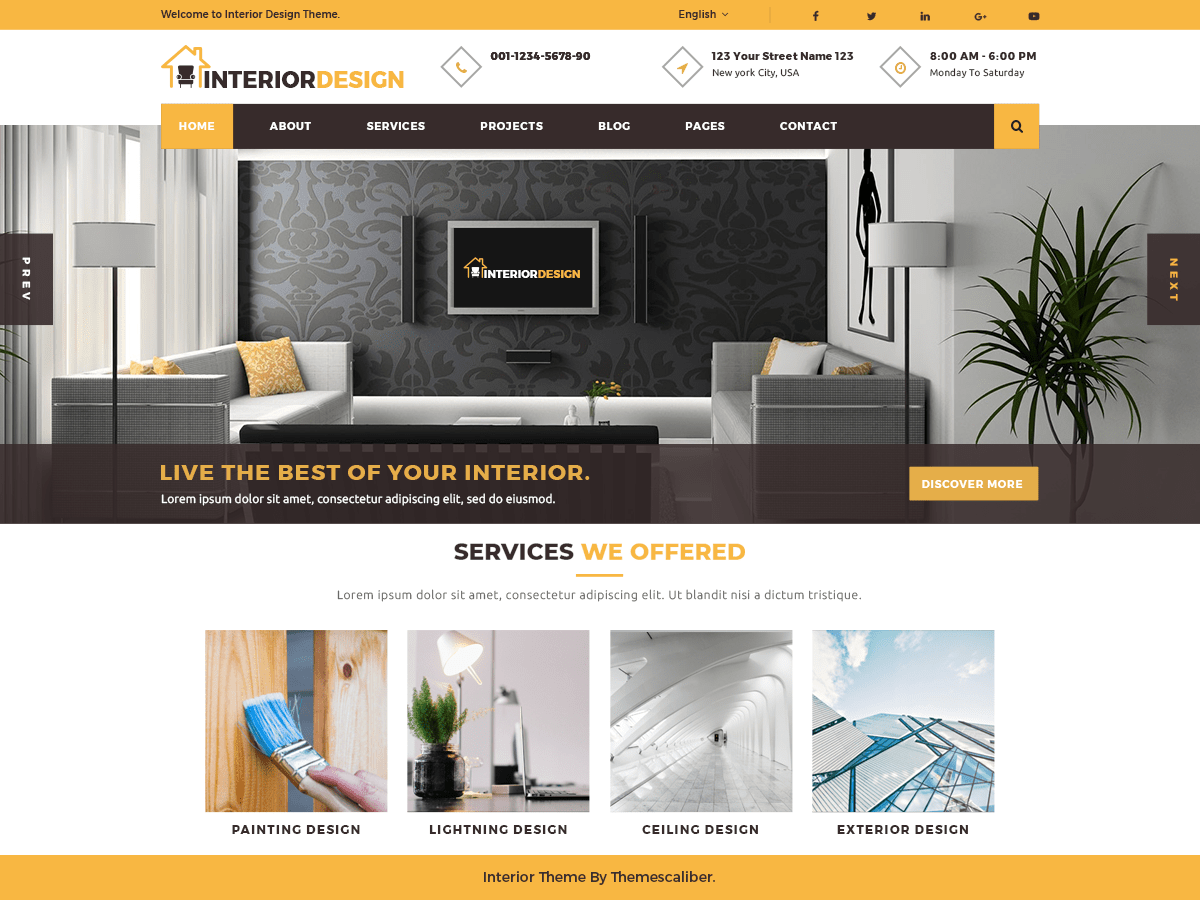 Interior Designs WordPress Theme Is An Aesthetically Designed Modern  WordPress Theme. It Finds Its Application In Interior Designsing Sites, ...
