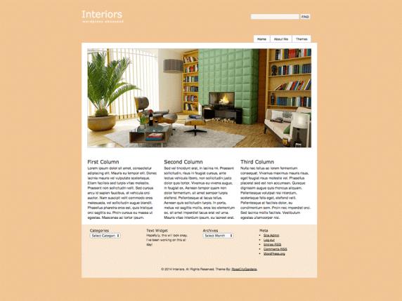 Interiors wordpress theme