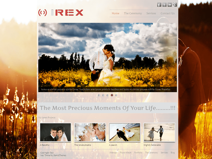 Irex Lite free wordpress theme