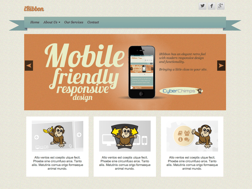 iRibbon free wordpress theme