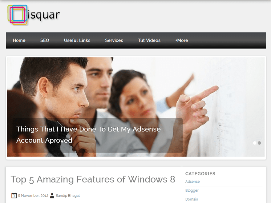 Isquar free wordpress theme