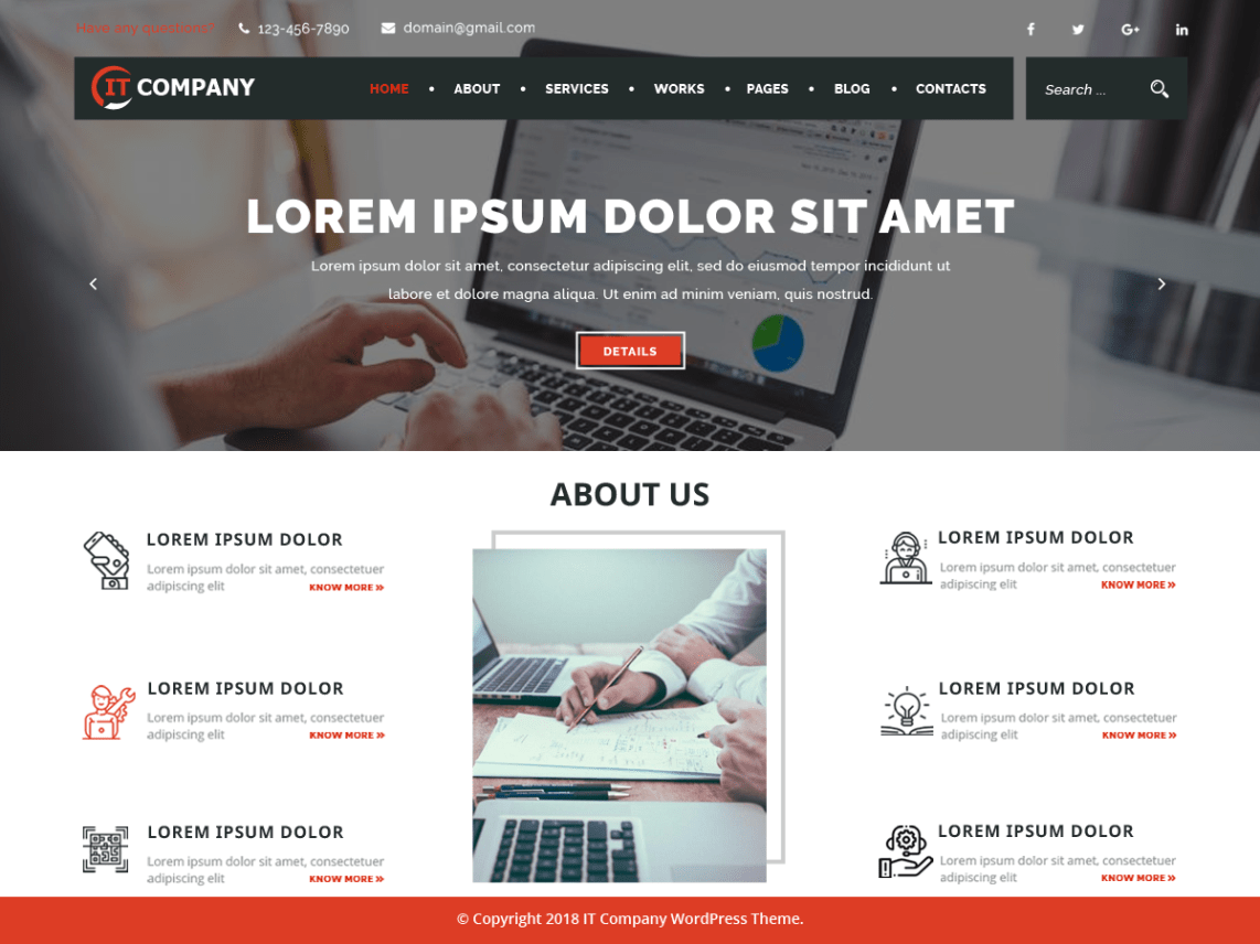 IT Company - WordPress theme | WordPress org