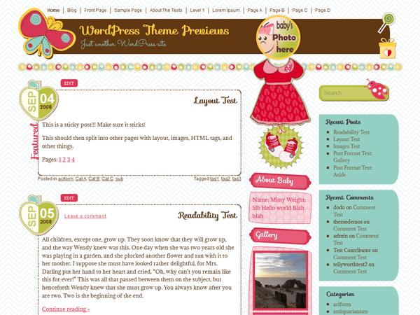It's a Girl free wordpress theme