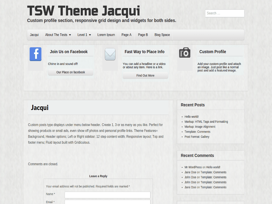 Jacqui free wordpress theme