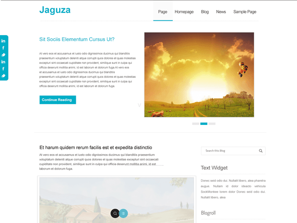 Jaguza free wordpress theme