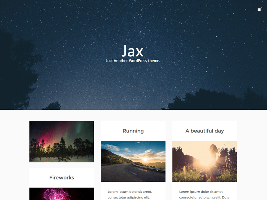 Jax Lite wordpress theme