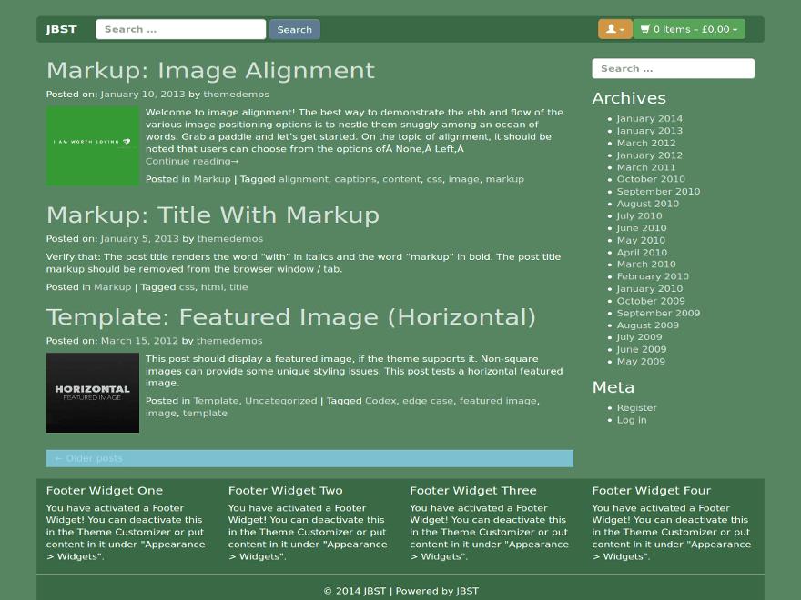 JBST 1pxdeep free wordpress theme