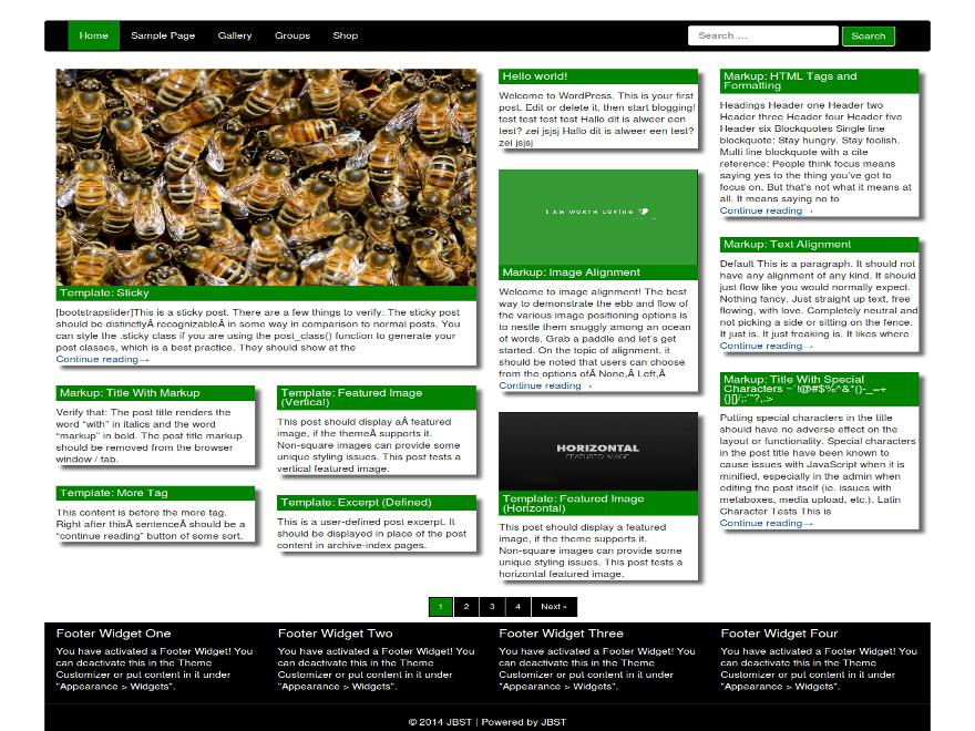 JBST Masonary free wordpress theme