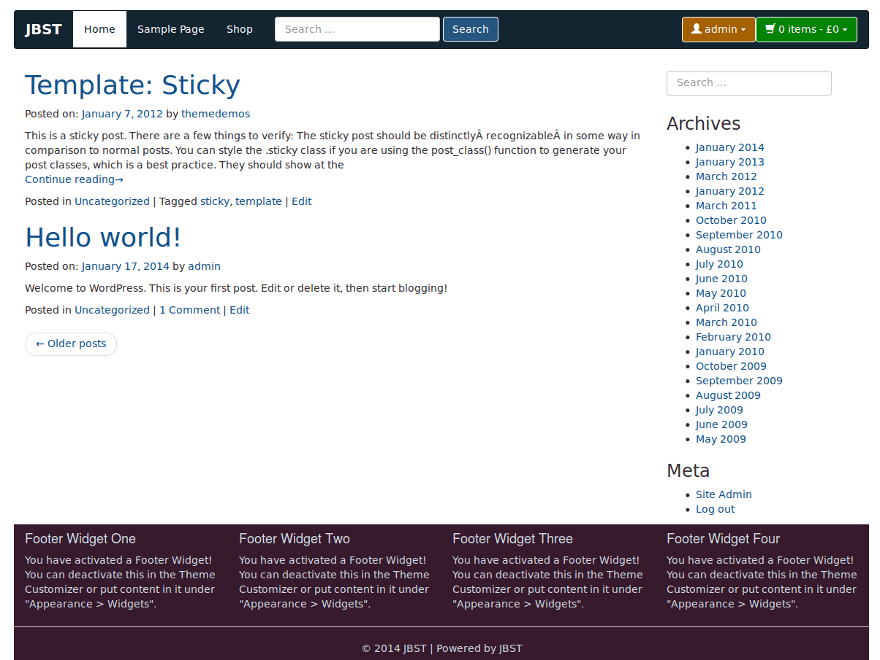 JBST theme wordpress gratuit