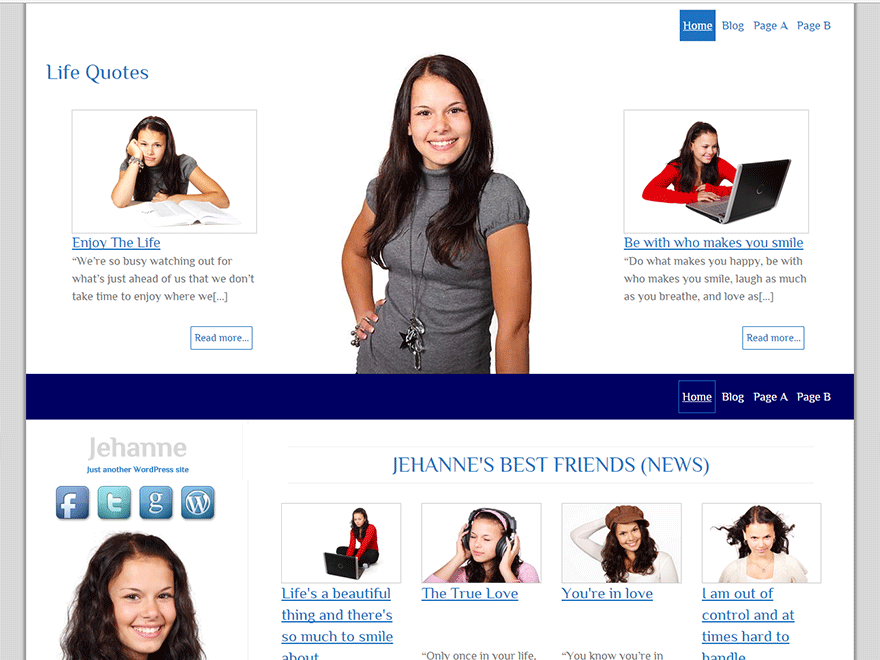 Jehanne free wordpress theme