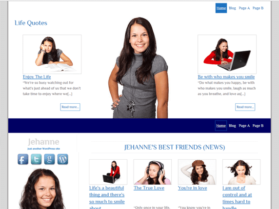 Jehanne wordpress theme