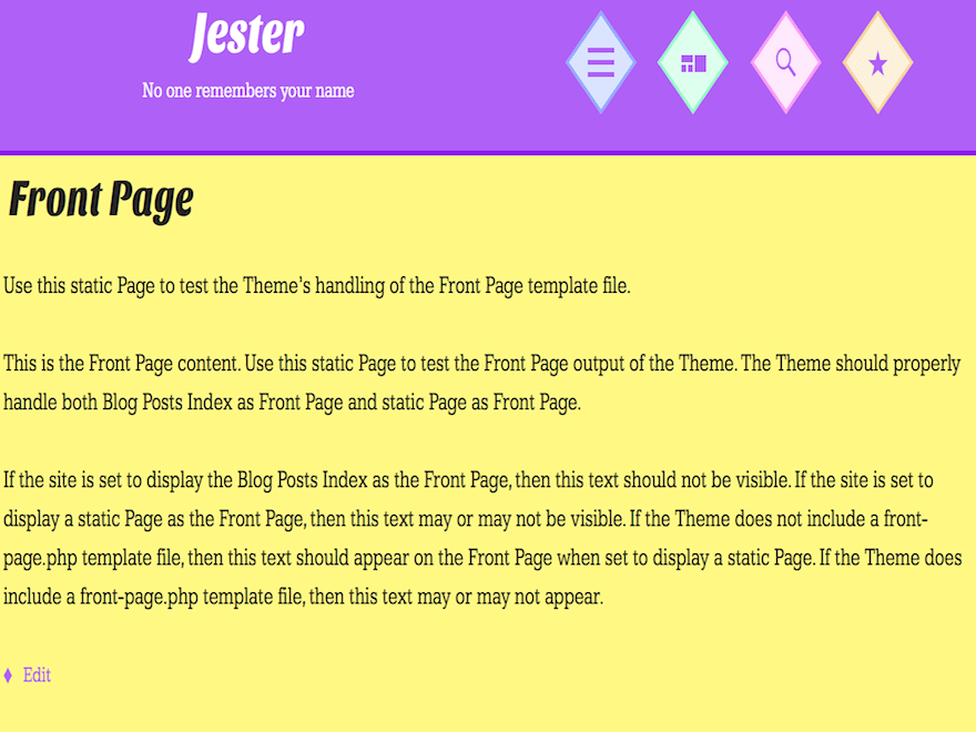 Jester free wordpress theme