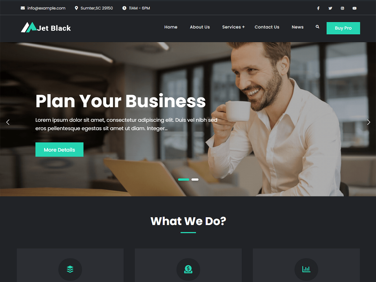 Jetblack Multipurpose WordPress Theme
