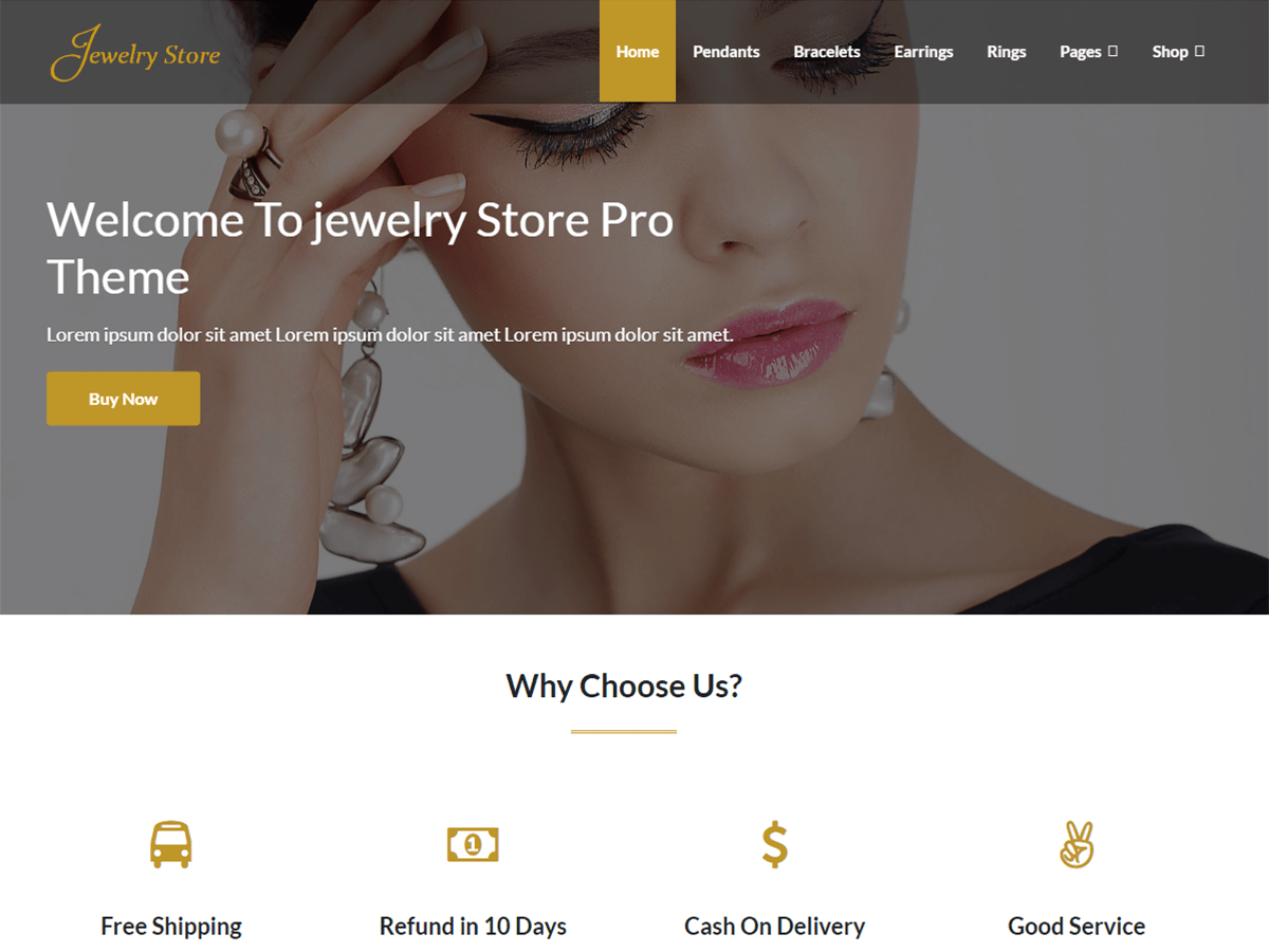 Jewelry Store E-Commerce WordPress Theme