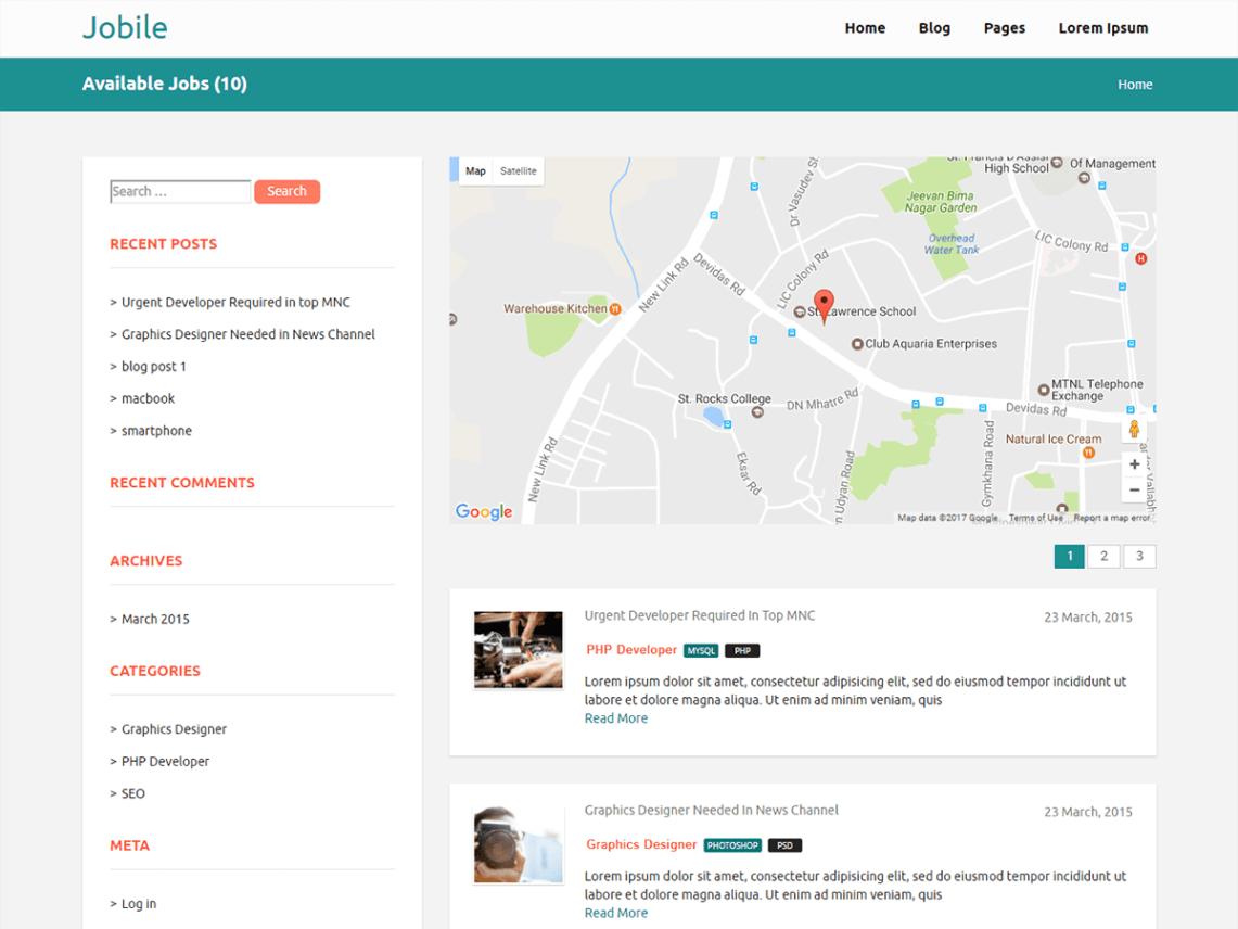 Jobile-free-responsive-business-job-board-WordPress-themes-Yudleethemes