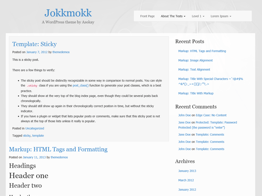 Jokkmokk free wordpress theme