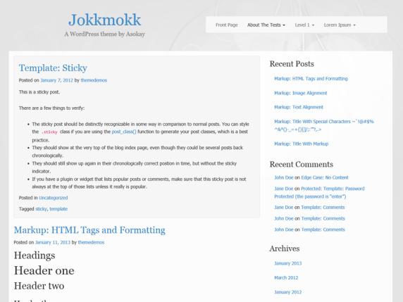 Jokkmokk wordpress theme