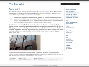 Journalist free wordpress theme