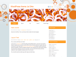 Js O4w free wordpress theme