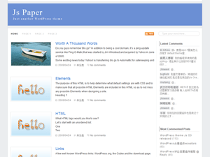 Js Paper free wordpress theme
