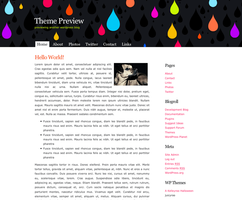 JuicyRoo free wordpress theme