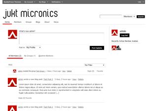 Jukt Micronics (BuddyPress BuddyPack) free wordpress theme