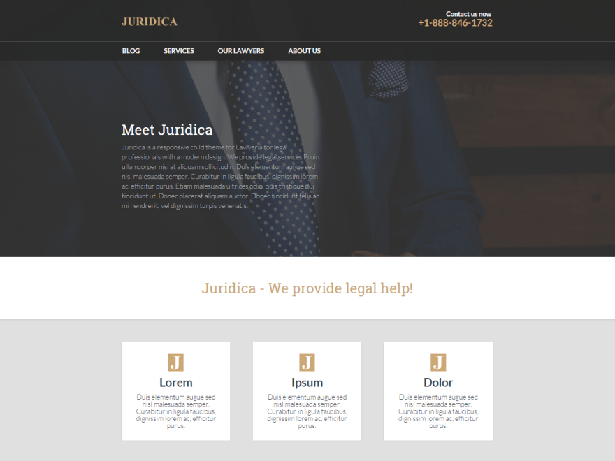 Juridica free wordpress theme