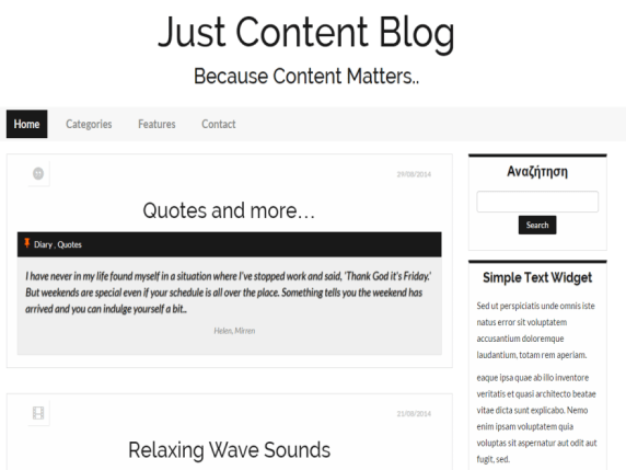 Just Content wordpress theme